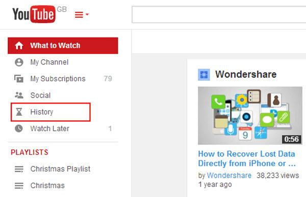 Come cancellare cronologia ricerche di Youtube